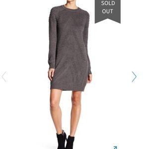 Eliza J rigid gray sweater dress size small